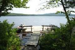 grants-camps-sporting-camp-cabin-jack-dock-rangeley-maine