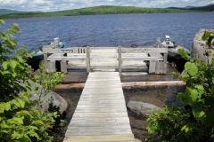 grants-camps-sporting-camp-cabin-harmony-dock-rangeley-maine