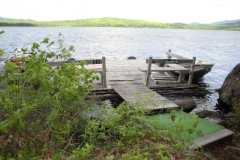 grants-camps-sporting-camp-cabin-woodside-dock-rangeley-maine
